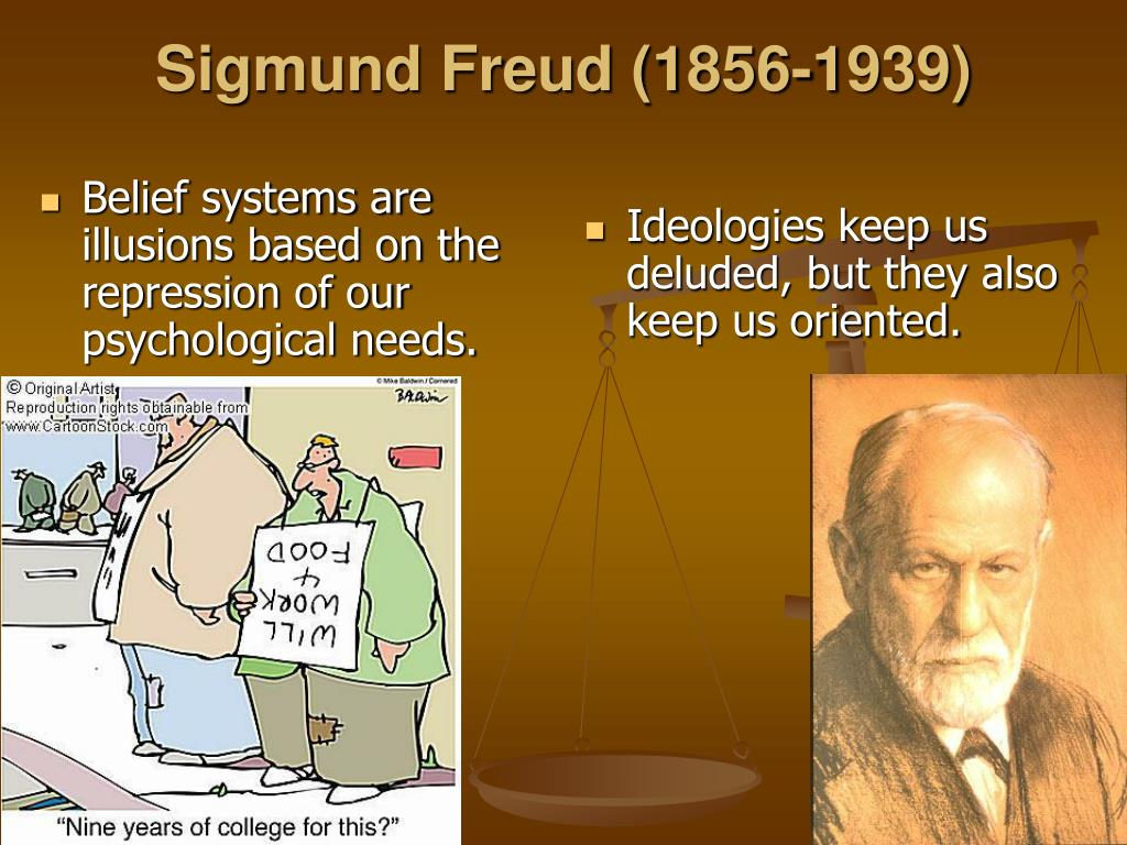 Belief systems are illusions based on the repression of our psychological needs.