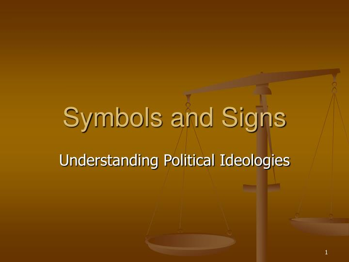 Symbols and signs