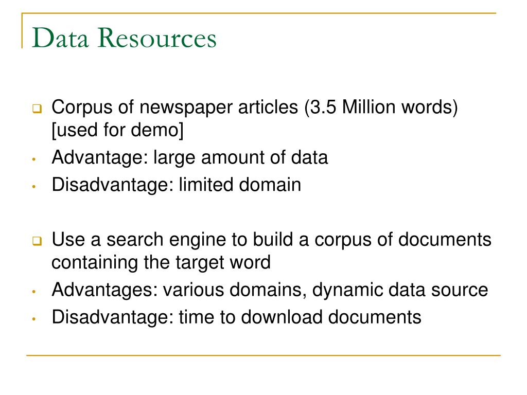 Data Resources