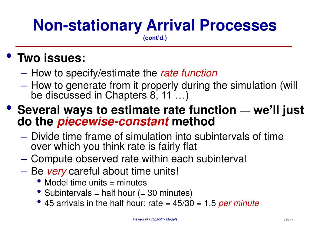 Non-stationary Arrival Processes