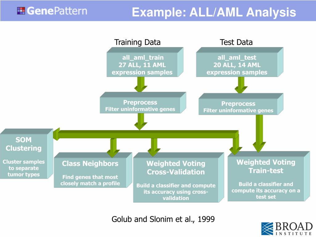 Example: ALL/AML Analysis