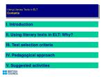 using literary texts in elt contents