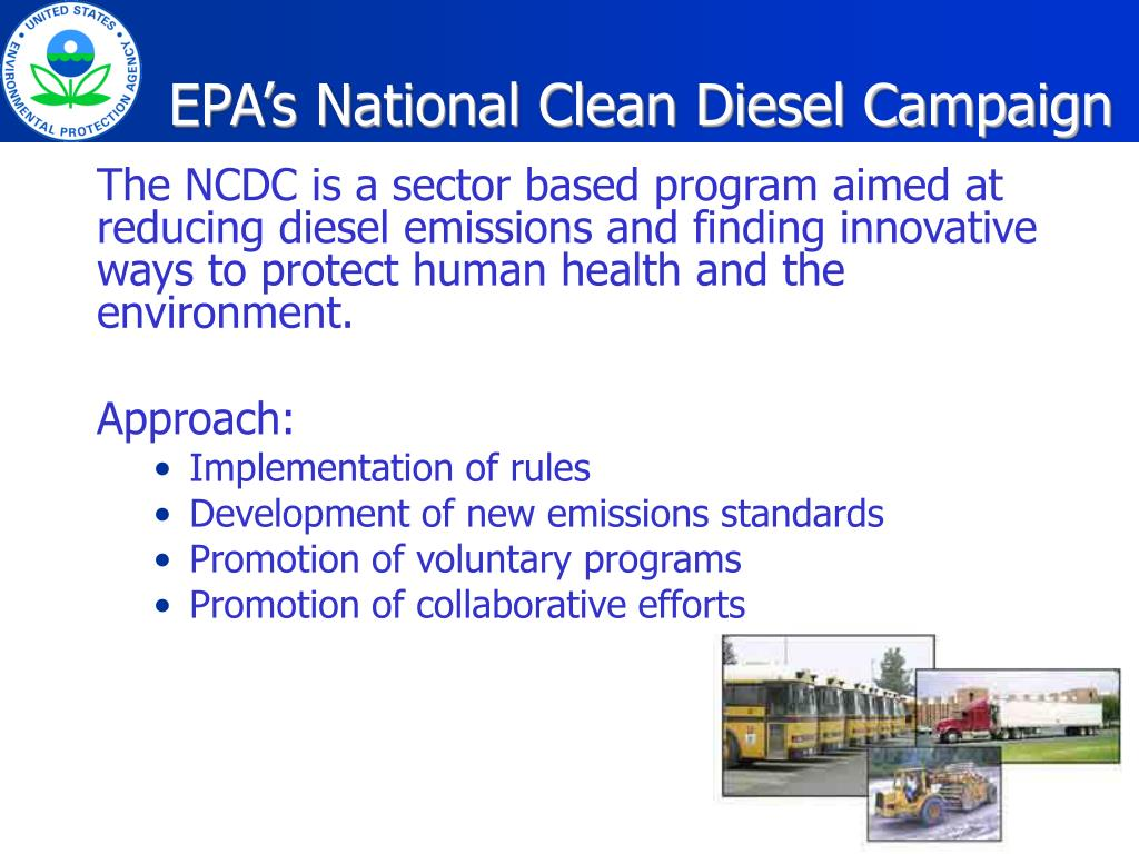 EPA's National Clean Diesel Campaign