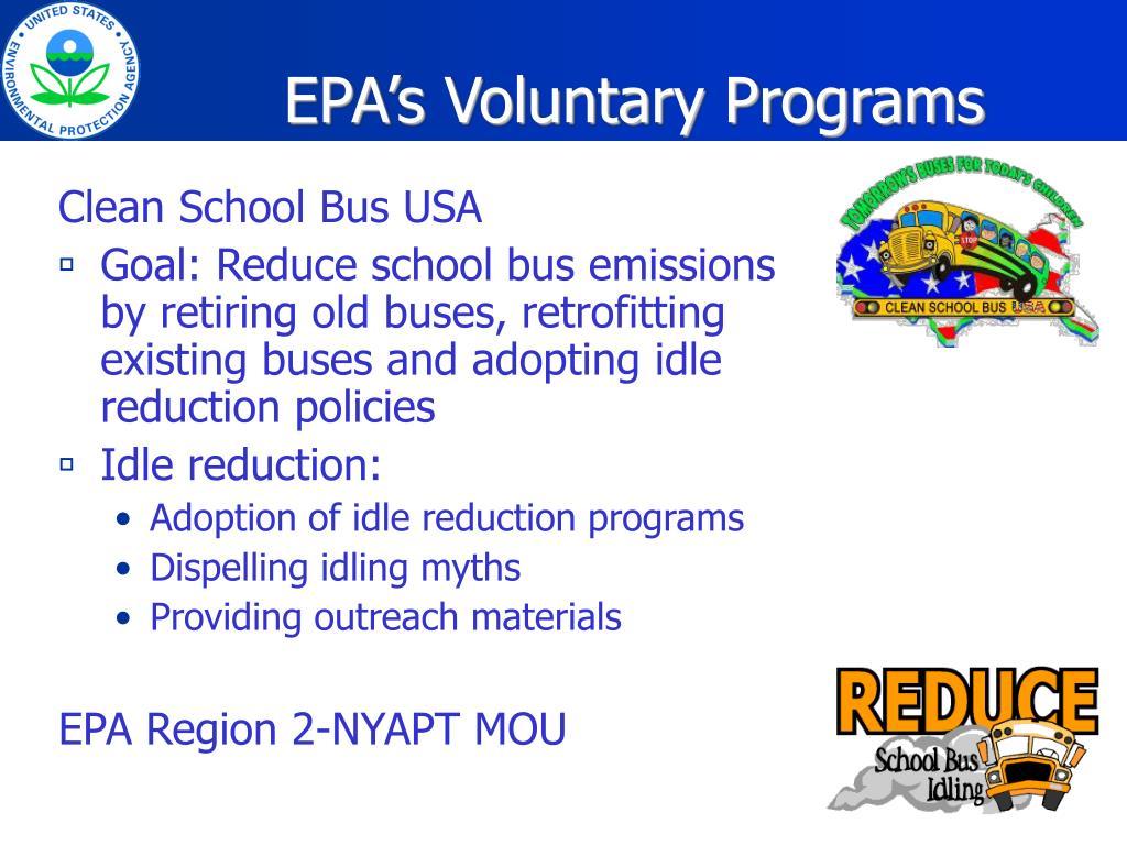 EPA's Voluntary Programs