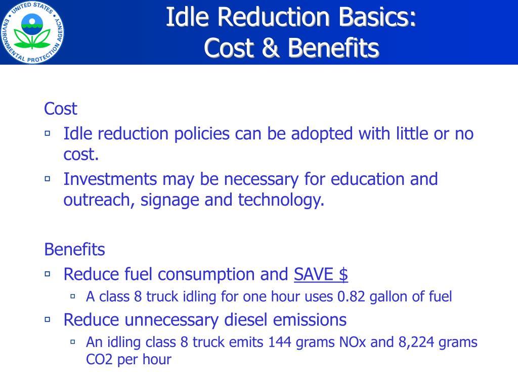 Idle Reduction Basics: