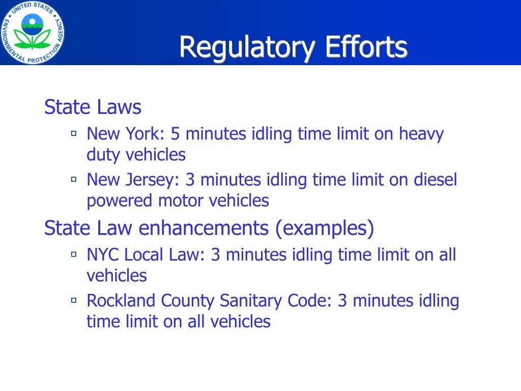 Regulatory Efforts