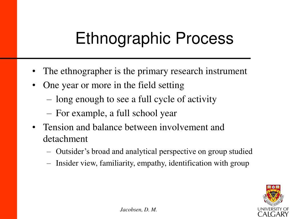 Ethnographic Process