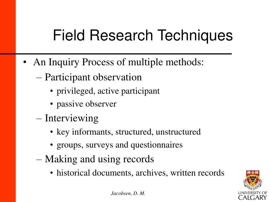 Field Research Techniques