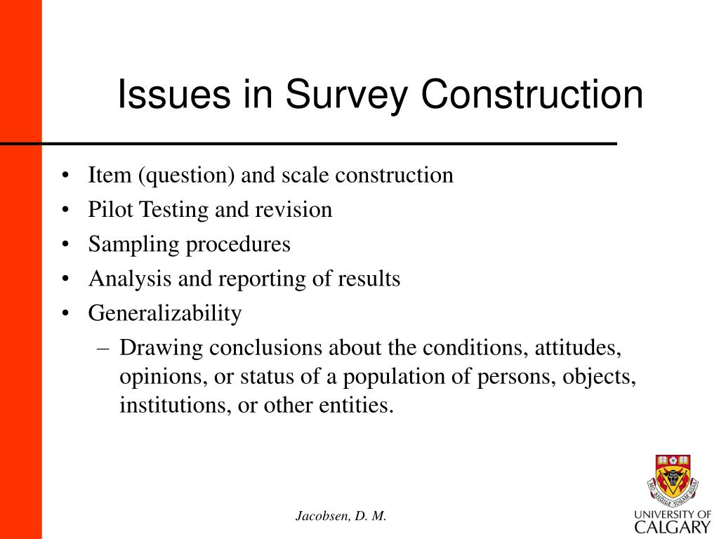 Issues in Survey Construction