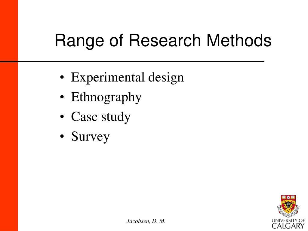 Range of Research Methods