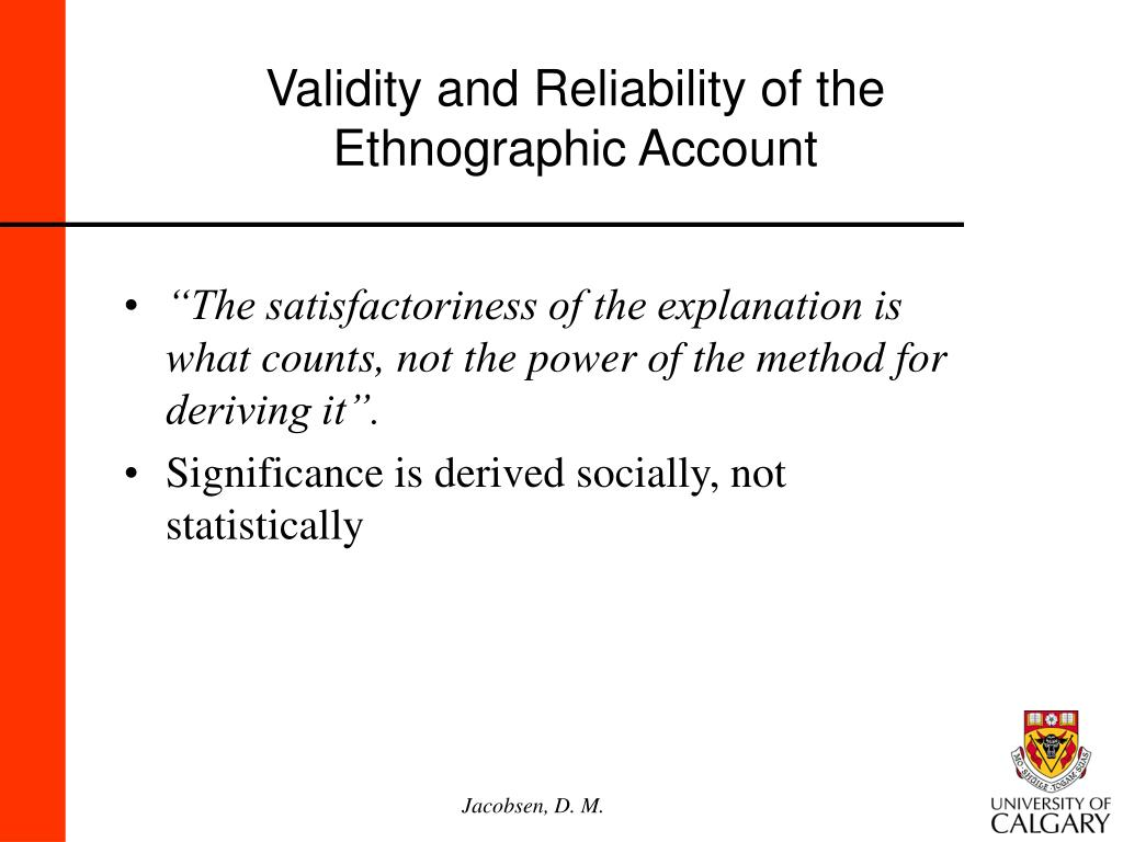 Validity and Reliability of the
