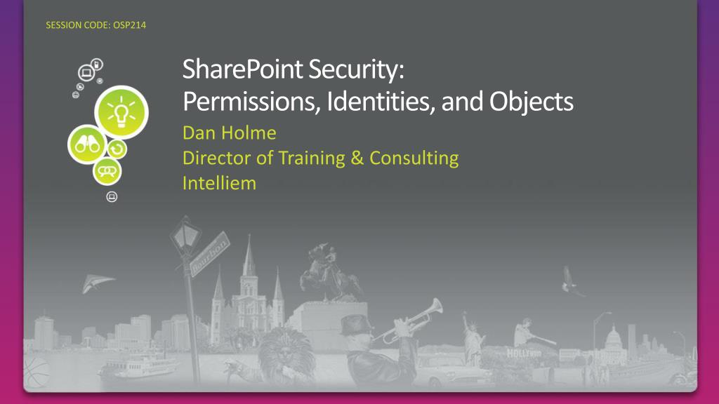 sharepoint security permissions identities and objects l.