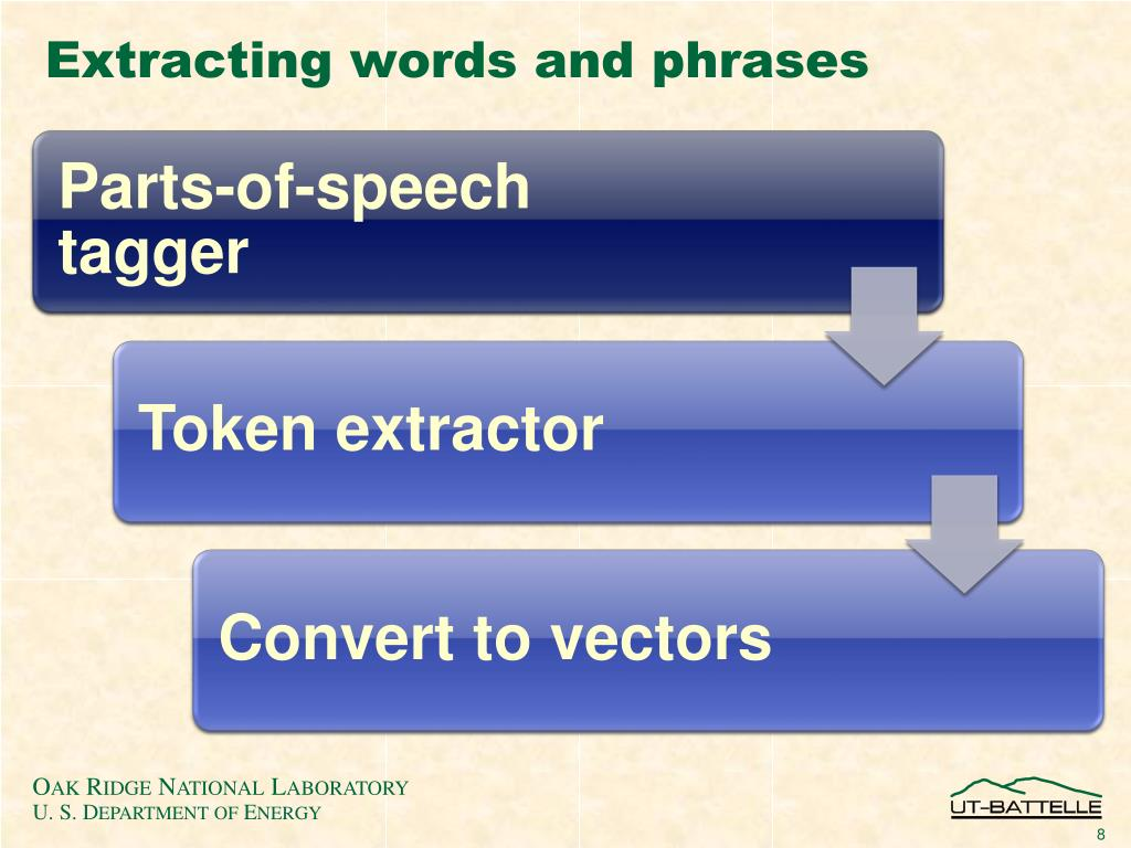 Extracting words and phrases