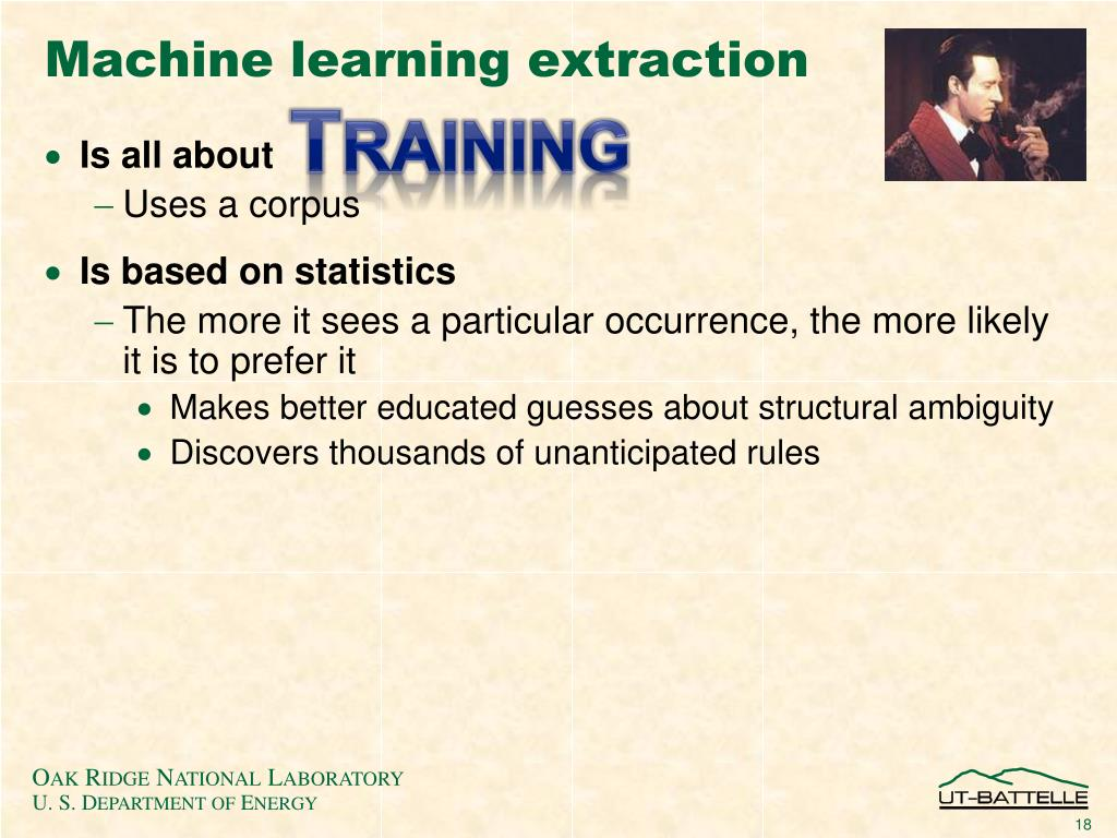 Machine learning extraction