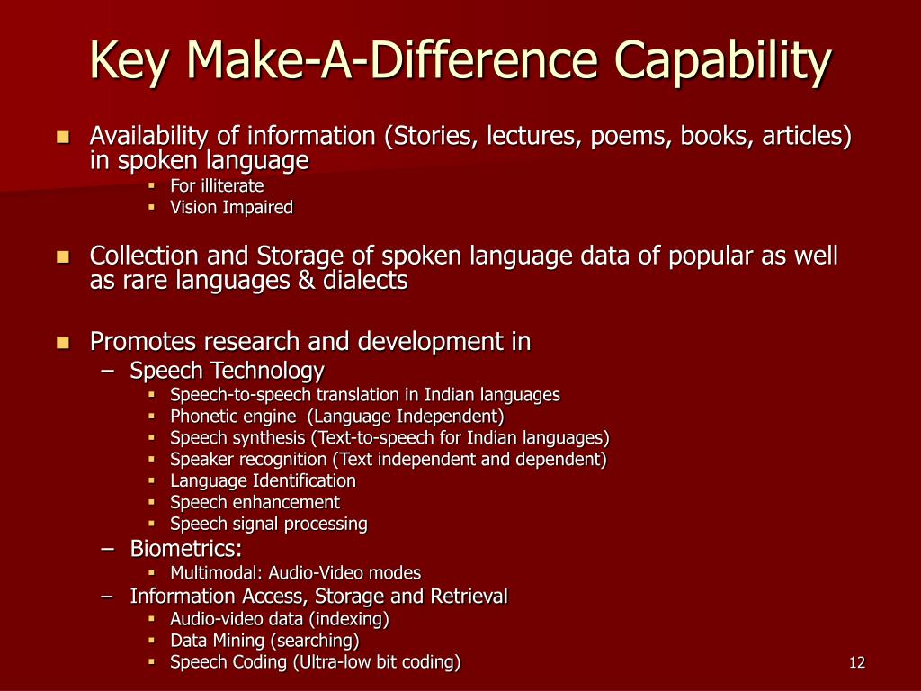 Key Make-A-Difference Capability