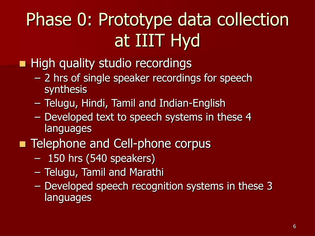 Phase 0: Prototype data collection at IIIT Hyd