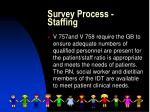 survey process staffing