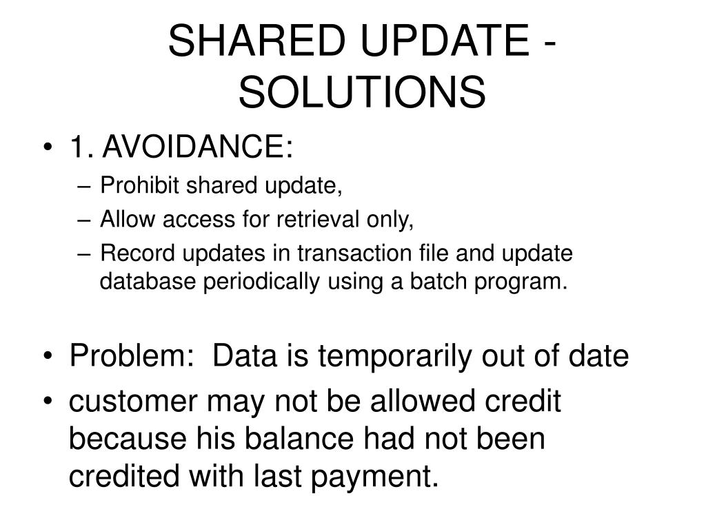 SHARED UPDATE - SOLUTIONS
