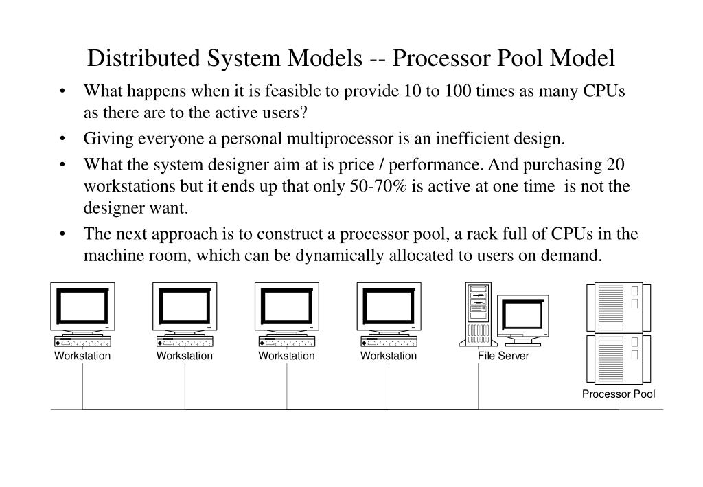 Distributed System Models -- Processor Pool Model