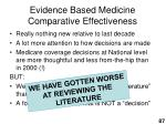 evidence based medicine comparative effectiveness87