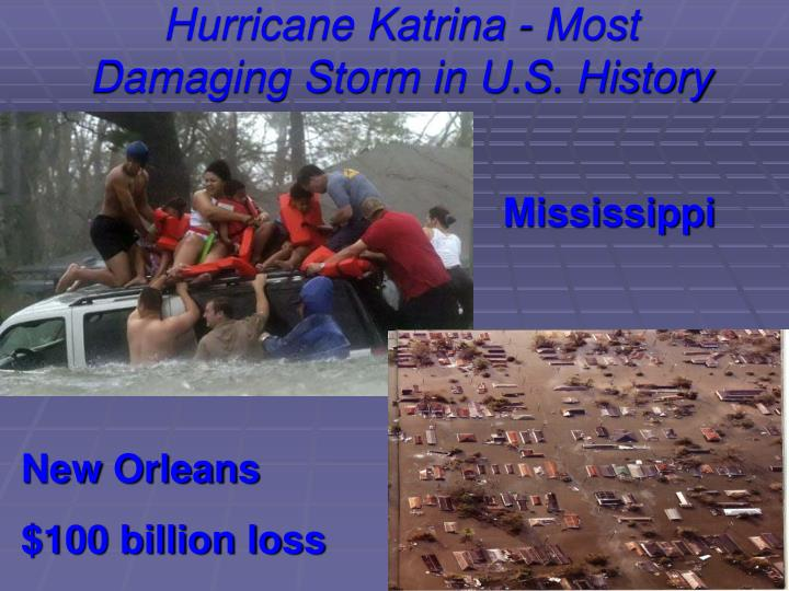 Hurricane Katrina - Most Damaging Storm in U.S. History