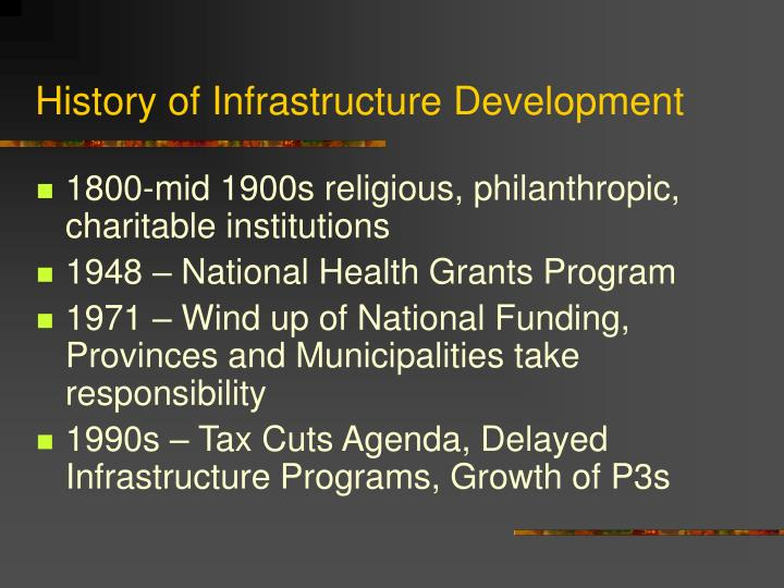 History of infrastructure development