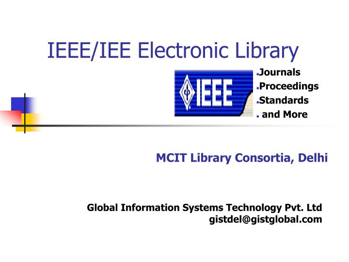 Ieee iee electronic library