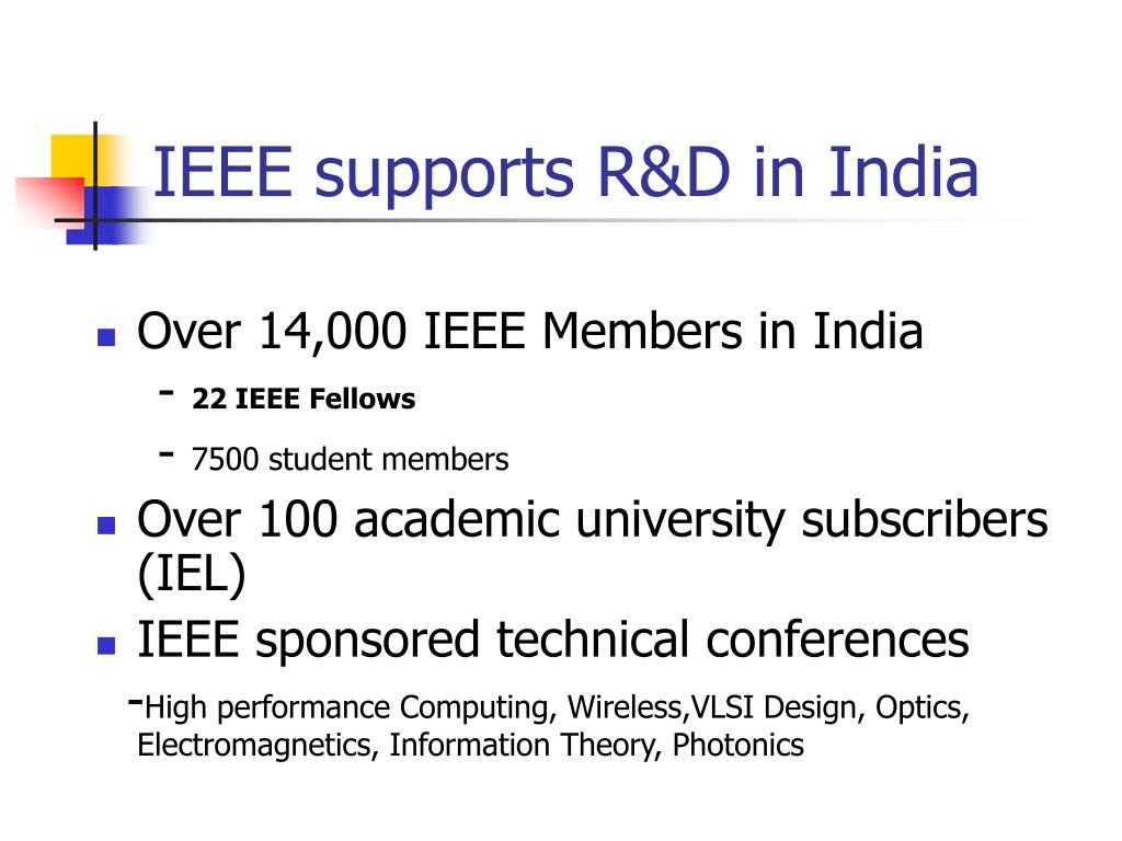 IEEE supports R&D in India