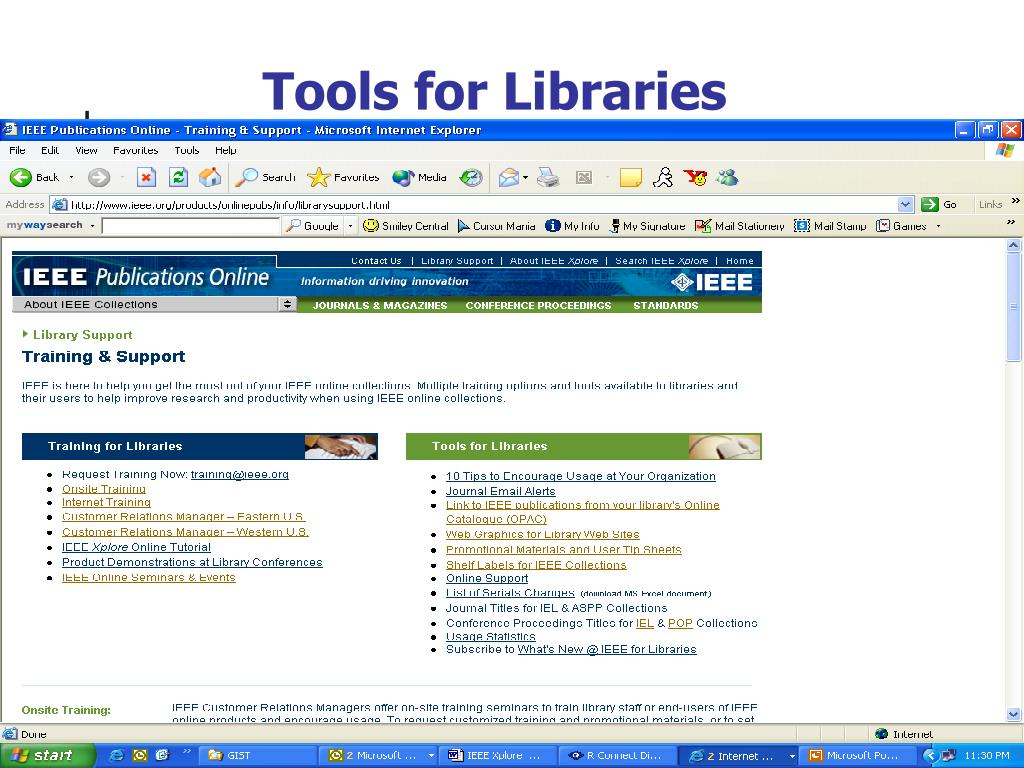 Tools for Libraries