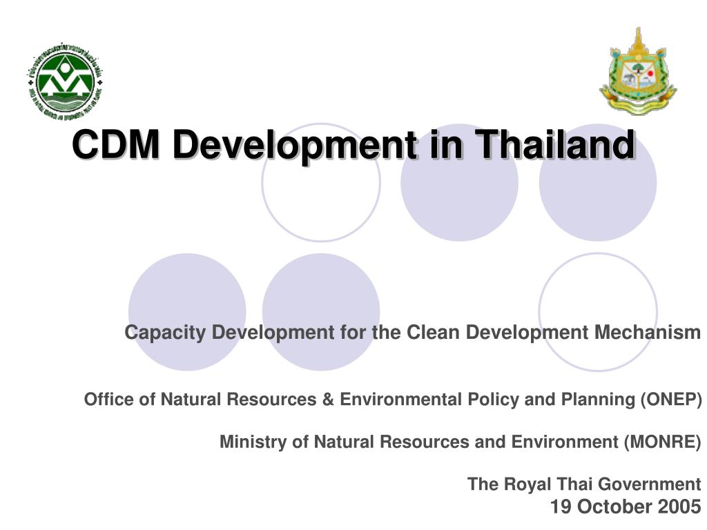 cdm development in thailand l.
