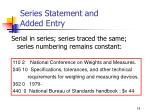 series statement and added entry18