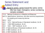 series statement and added entry19