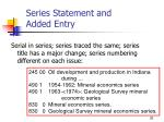 series statement and added entry20
