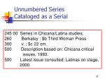 unnumbered series cataloged as a serial