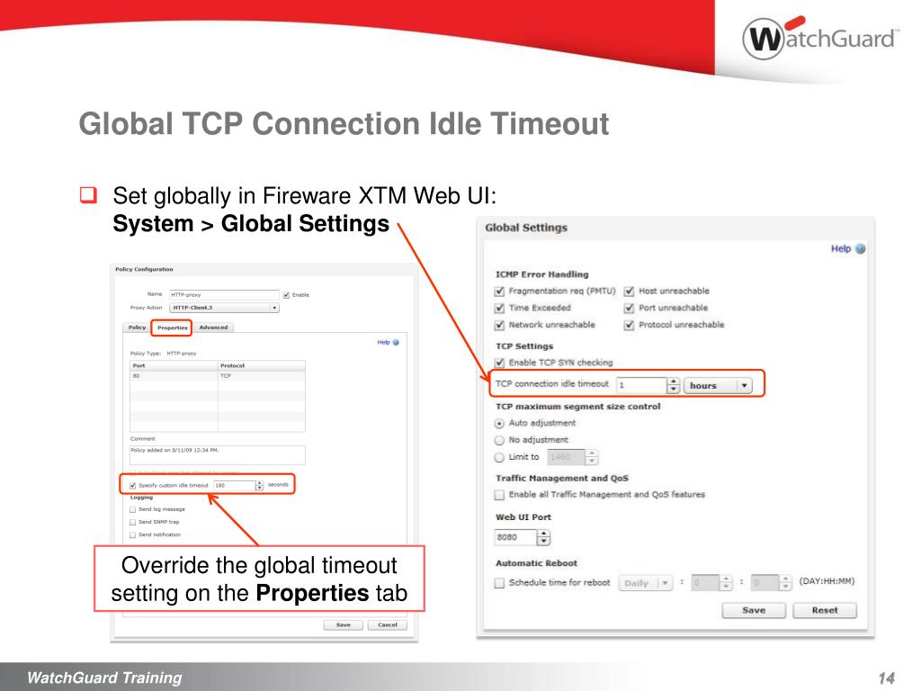 Global TCP Connection Idle Timeout