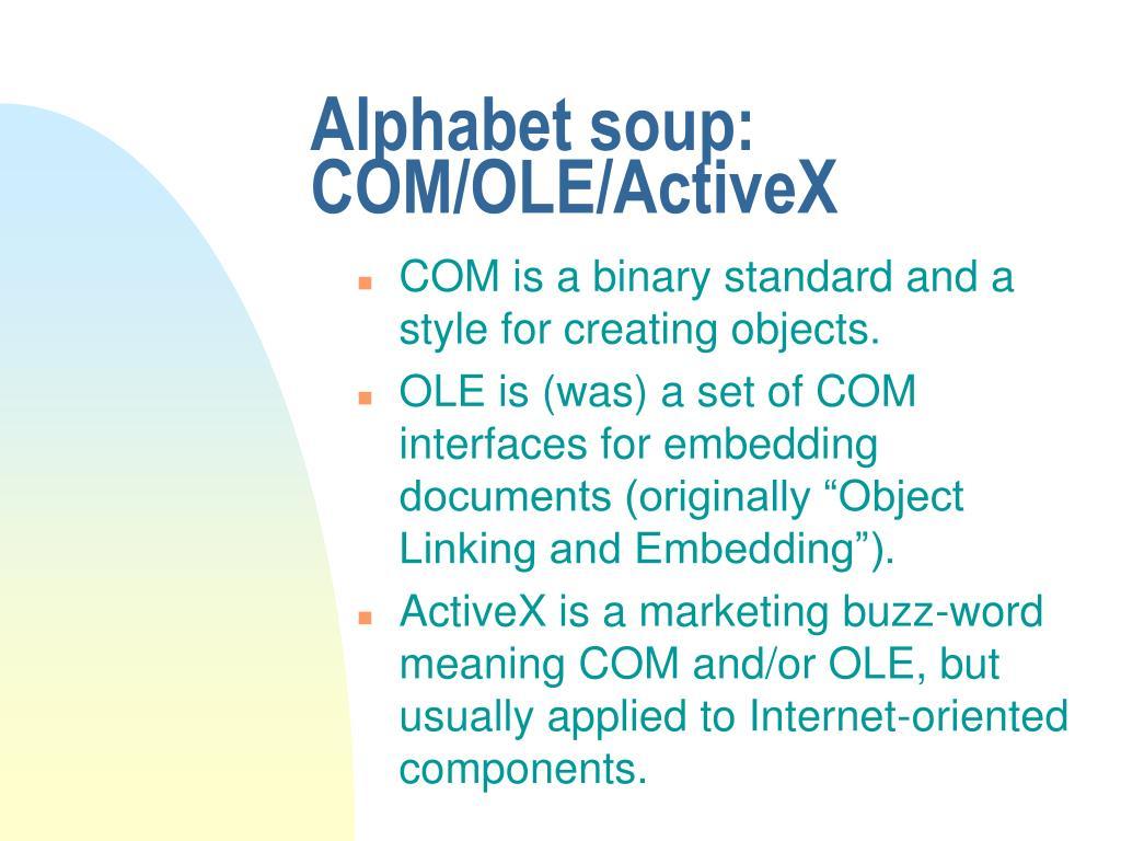 Alphabet soup: