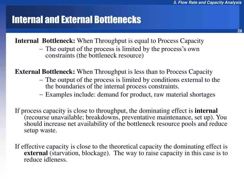 Internal and External Bottlenecks