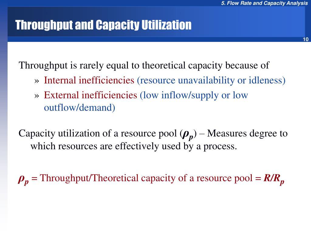 Throughput and Capacity Utilization