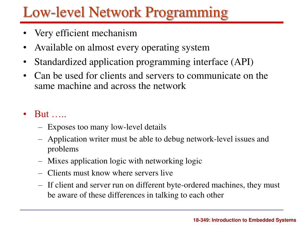Low-level Network Programming