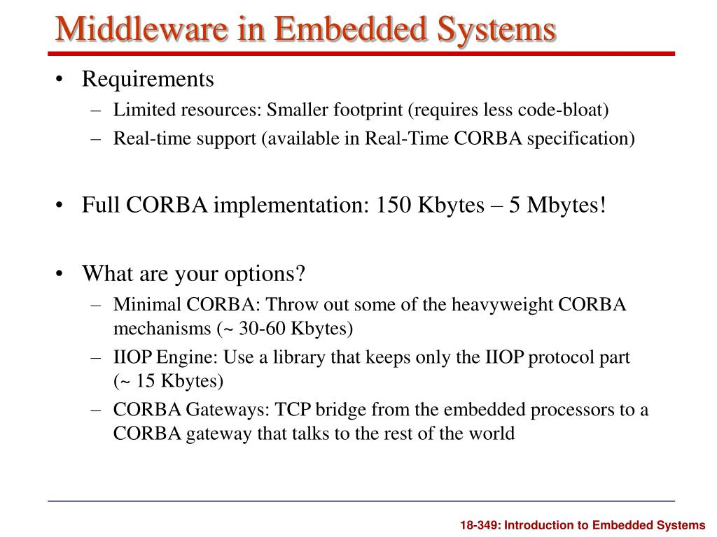 Middleware in Embedded Systems