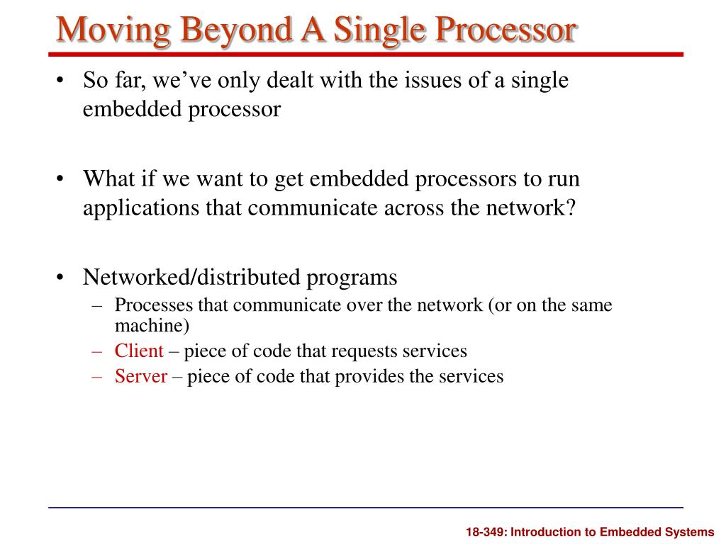 Moving Beyond A Single Processor