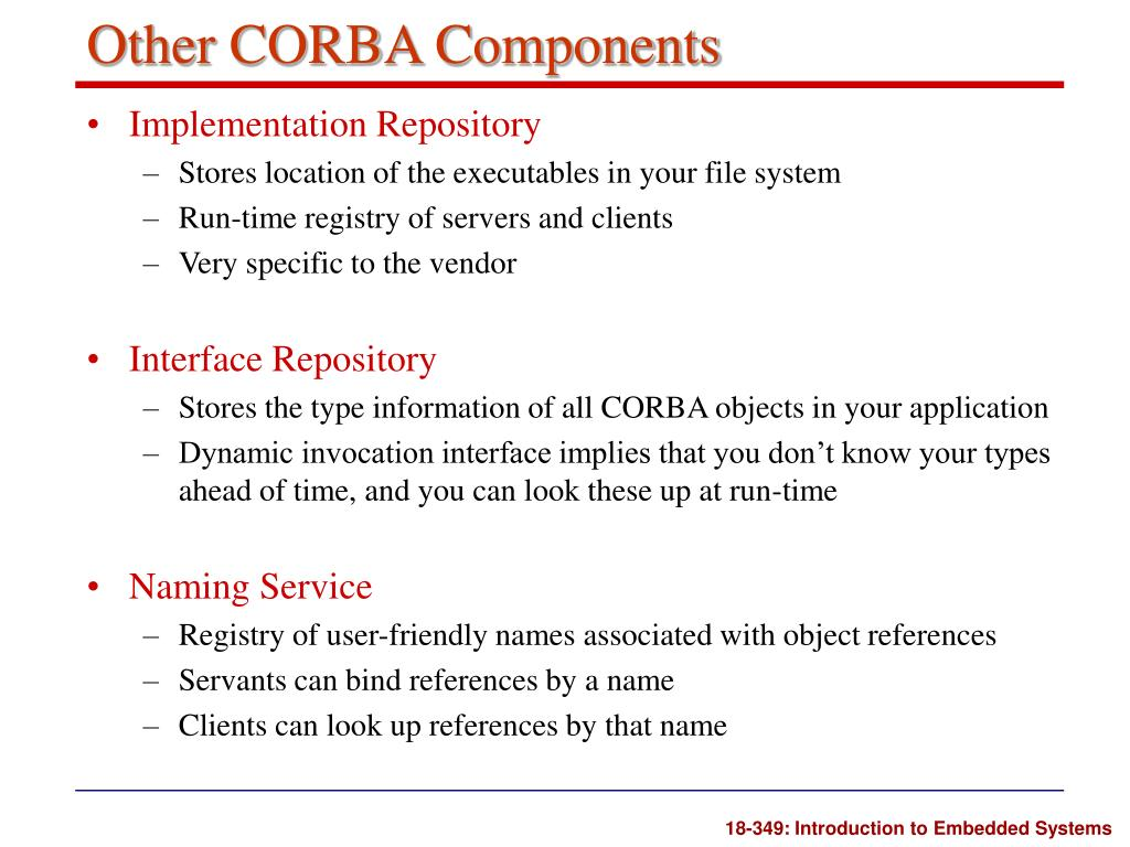 Other CORBA Components
