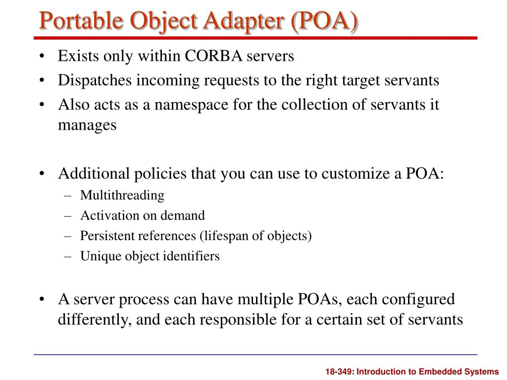 Portable Object Adapter (POA)