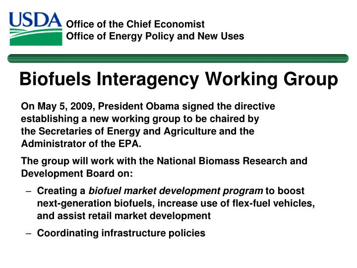 Biofuels Interagency Working Group
