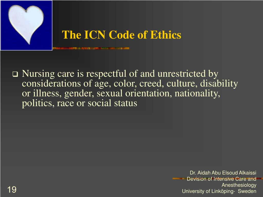 The ICN Code of Ethics