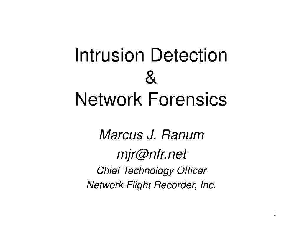intrusion detection network forensics l.