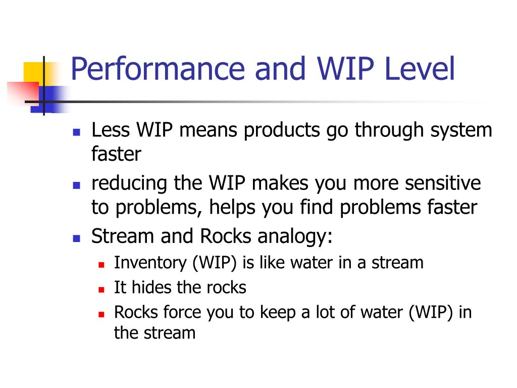 Performance and WIP Level