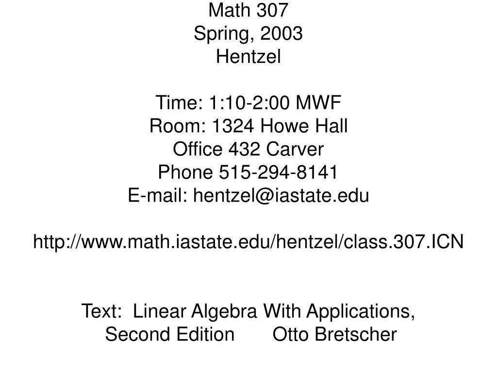 Math 307