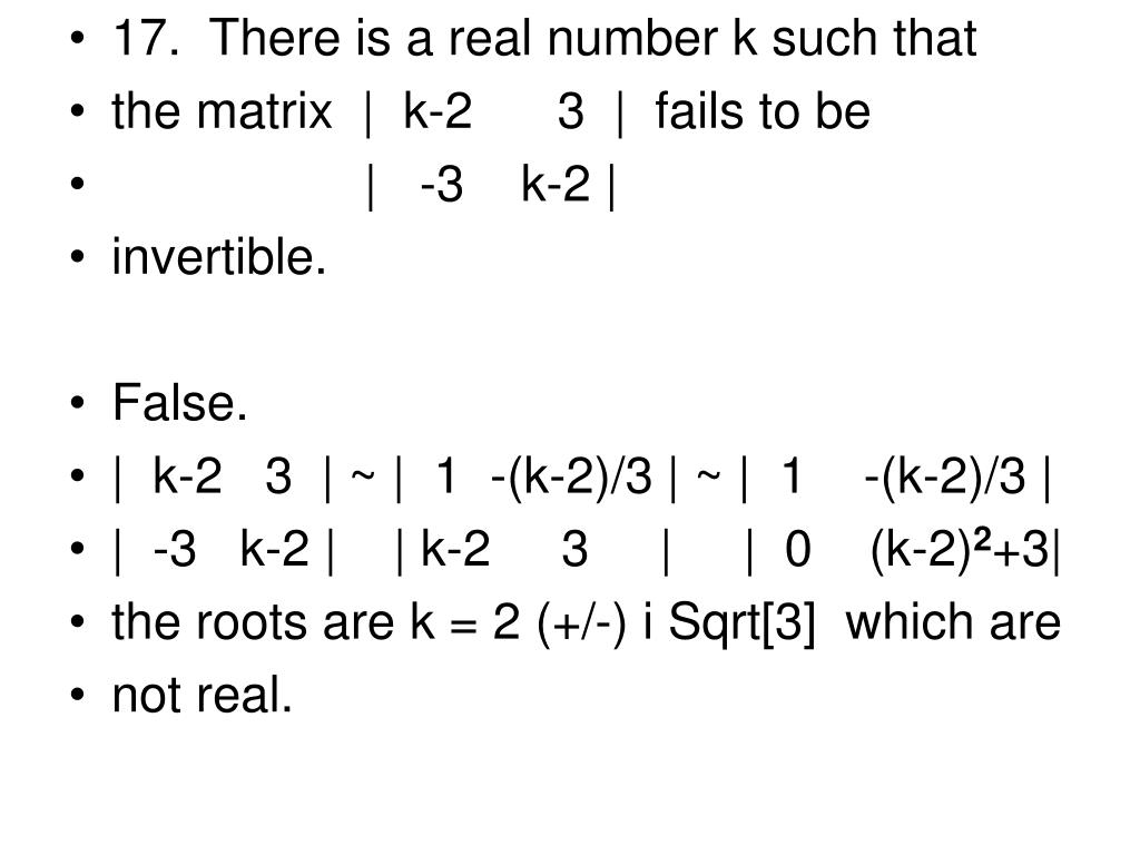 17.  There is a real number k such that