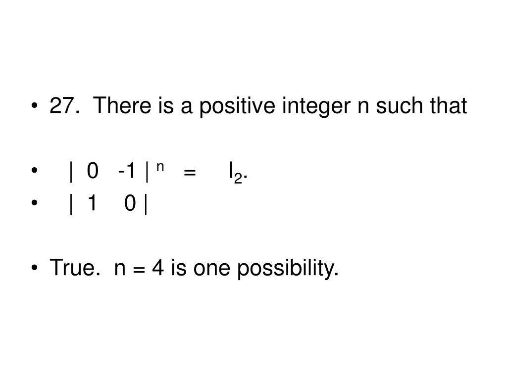 27.  There is a positive integer n such that